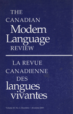 The Canadian Modern Language Review