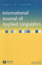 International Journal of Applied Linguistics
